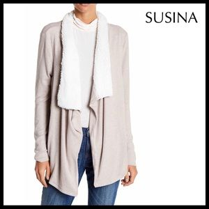 LONG SHAWL CARDIGAN OPEN FRONT HI LO DUSTER A3C